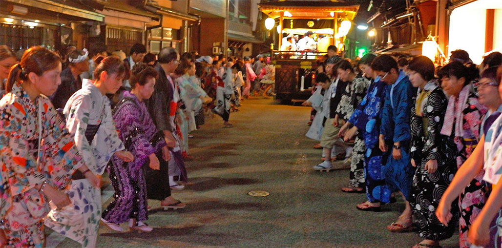 Bon Odori street dance during Obon