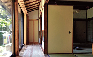 Engawa Japanese veranda, porch and sunroom.