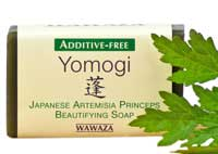Additive-free, aged soap. Made with fresh leaves of Yomogi, the Japanese wonder herb.