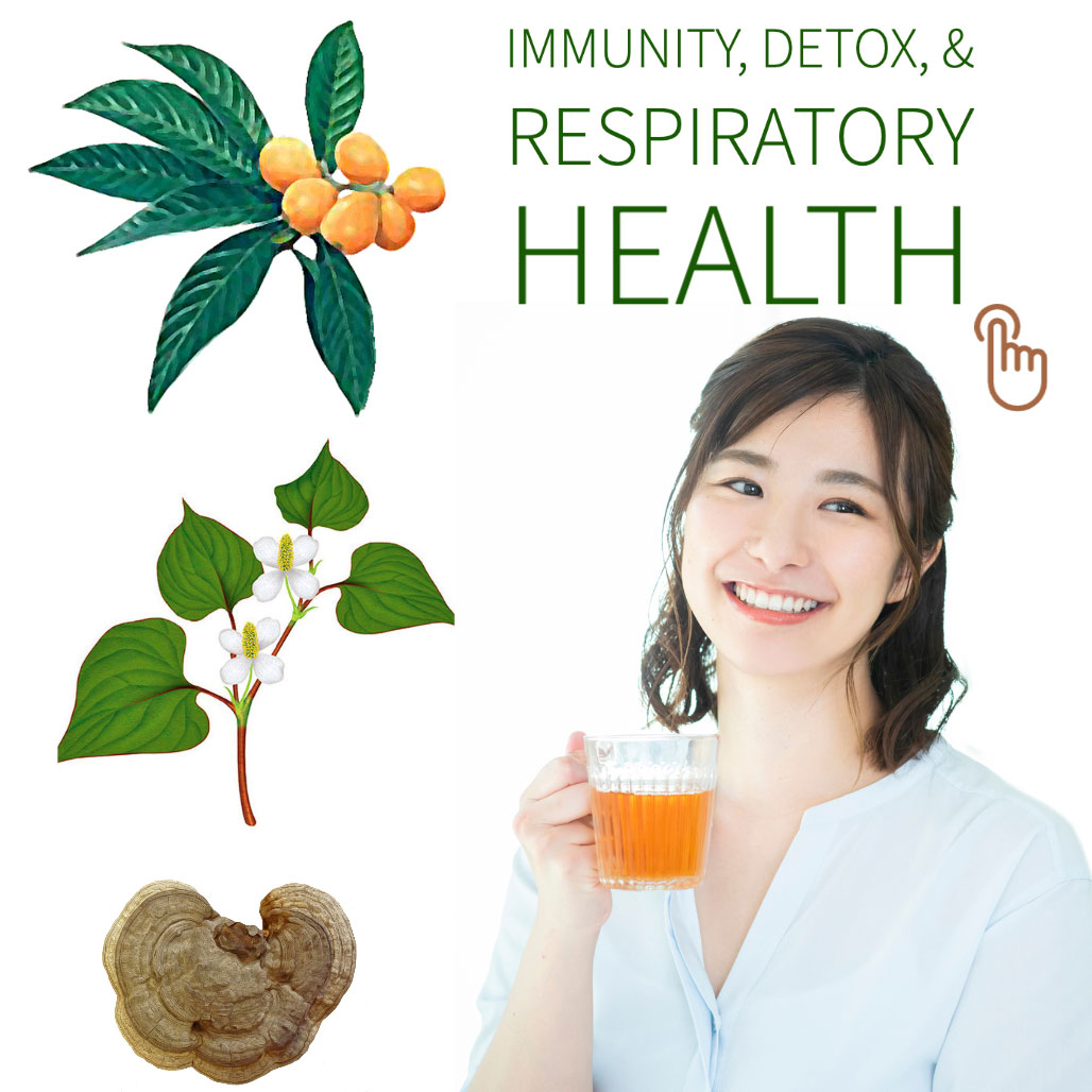 Japanese herbal teas for immunity boost, detox and respiratory health