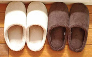 I also keep a few pairs of slippers in my genkan (front entrance) for my guests