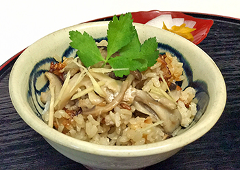 Rice with Mushrooms (Kinoko-Gohan)