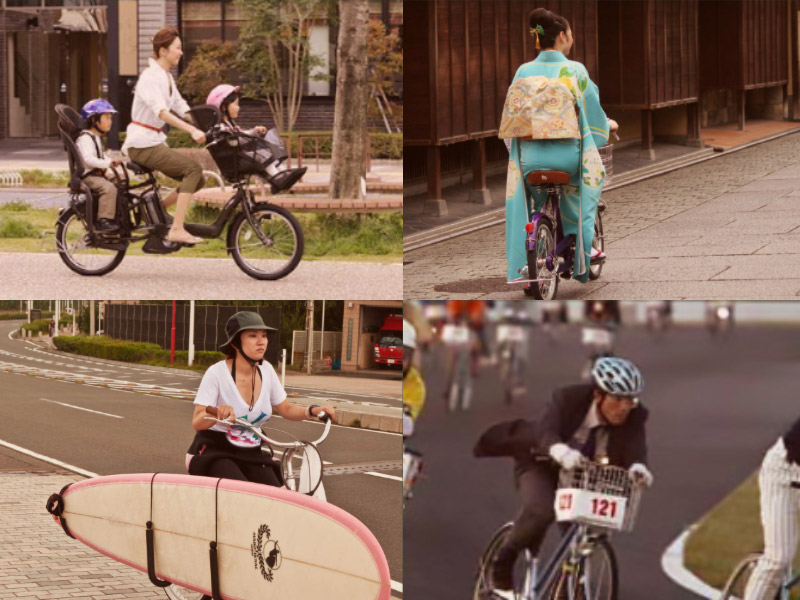 In Japan, mamachari bicycles are everywhere