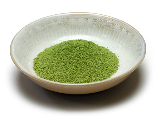 Matcha-zhio traditional Japanese matcha and salt garnish