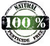 natural pesticide free stamp