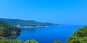 Uwajima bay is a pristine body of water in southern Shikoku, the smallest of Japanese main islands