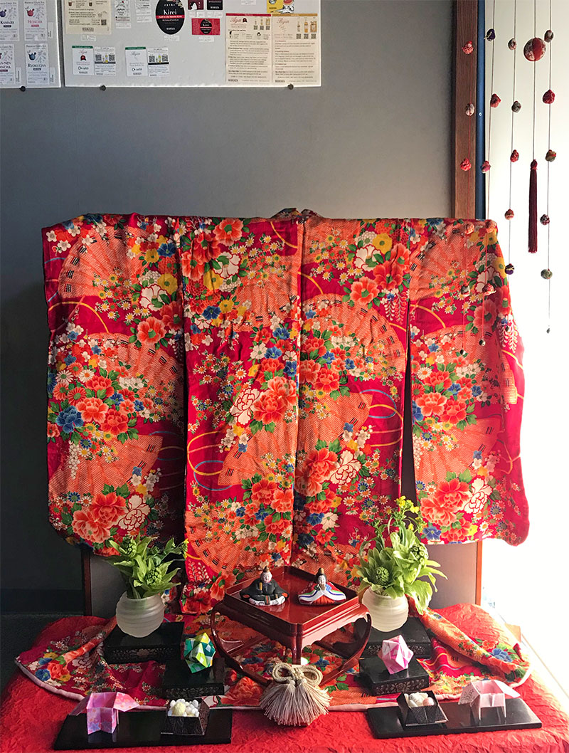 The kimono in the photos is almost 70 years old
