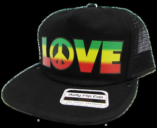Peace & Love Flip Cap