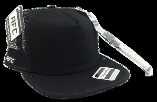Plain Black Interior Trucker Flip Cap
