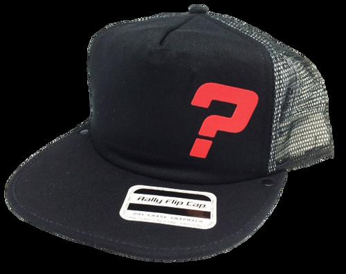 Red Question Mark Flip Cap