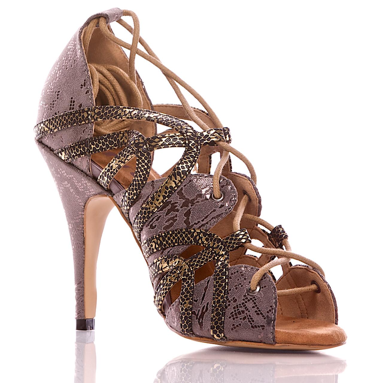 121a6bd9dcbf Vaneno - Grey And Black Open Toe Lace Up Stiletto Sandal - 4 inch Heels - Burju  Shoes
