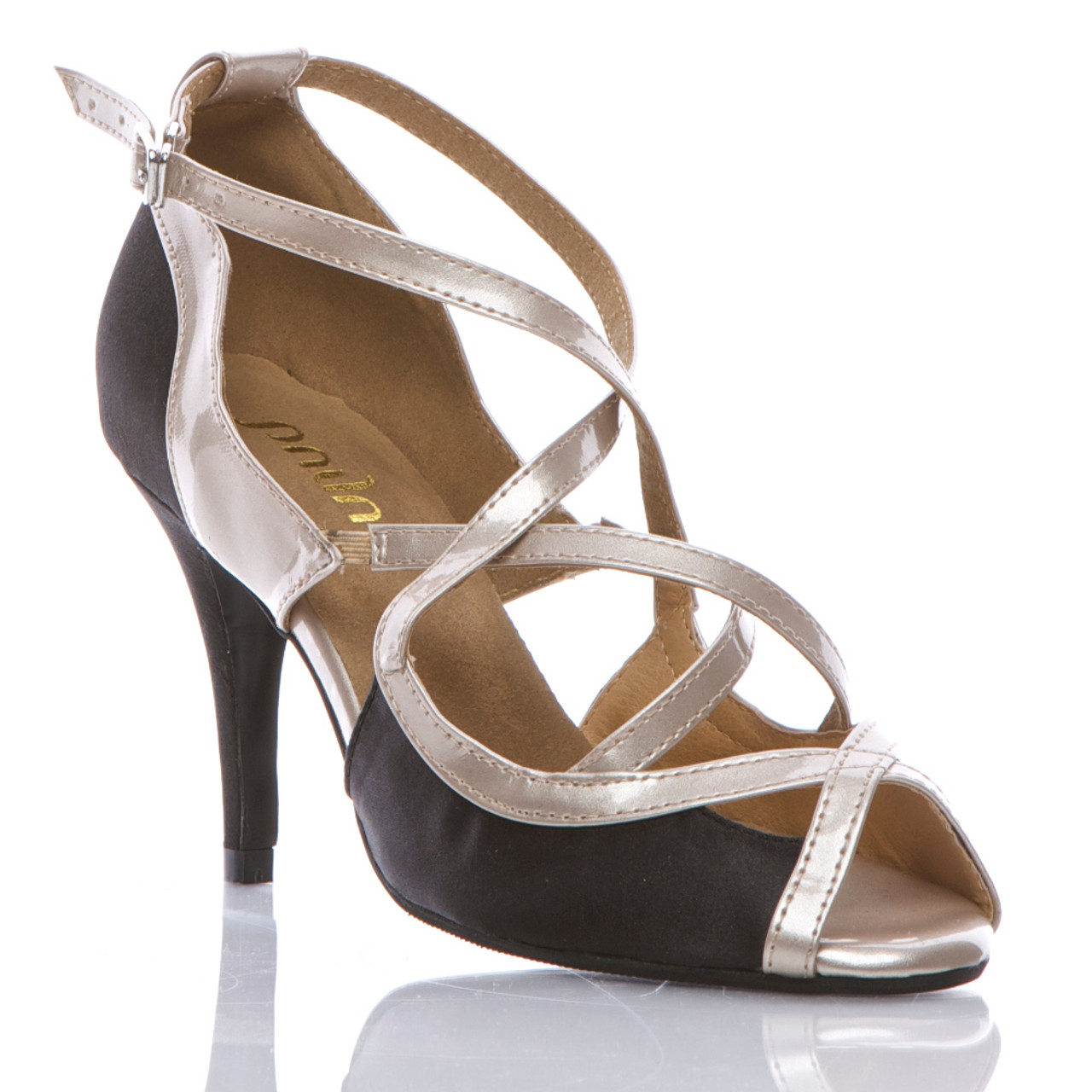 1381f1a2c Arlette - Strappy Open Toe Dance Shoe - Custom Made To Order - BS201333 -  Burju Shoes
