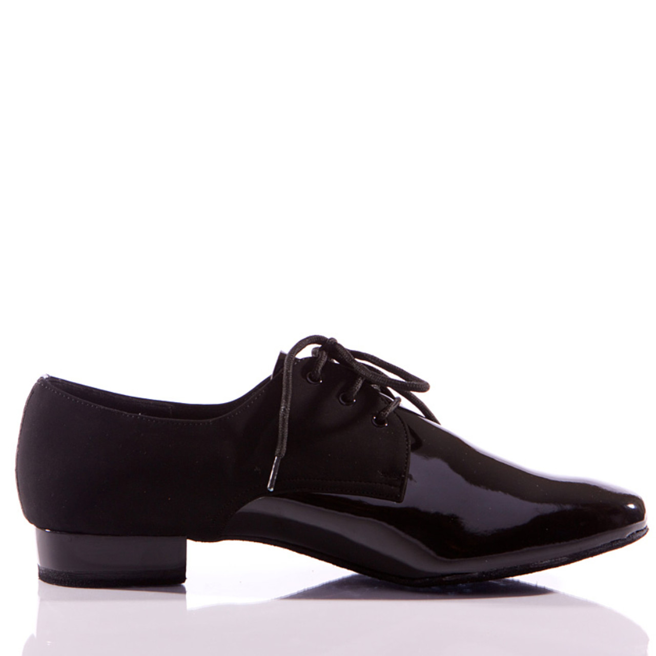 4b3dc775f2be Hector - Men s Black Nubuck and Patent Leather Dance Shoe - Standard Heels  - Burju Shoes
