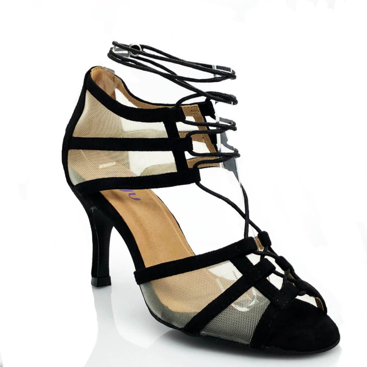 66915e20664 Aleeya - Lace Up Mesh Cut Out Heel - Custom Made To Order - 1882