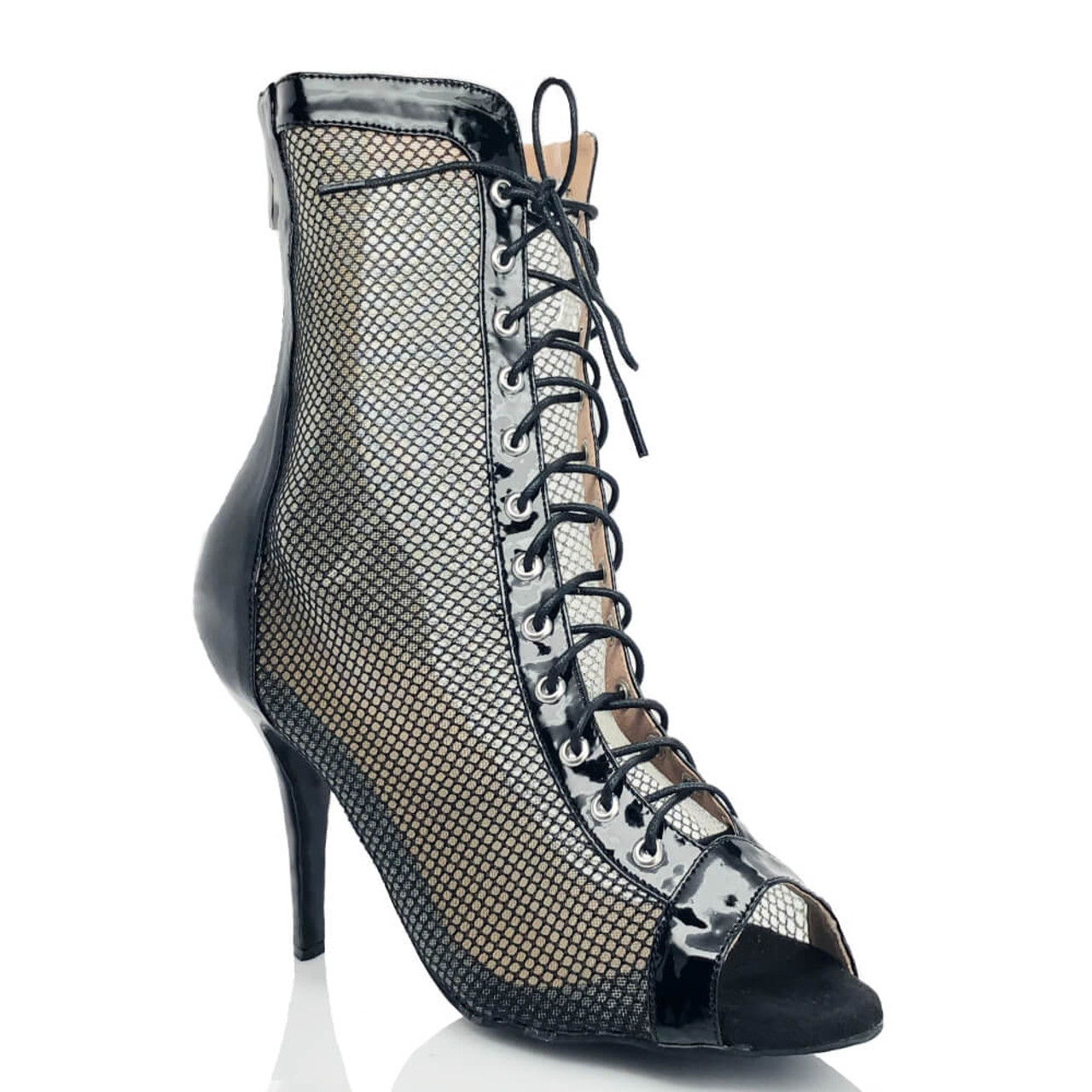 Jezzie - Black or White Mesh Lace up