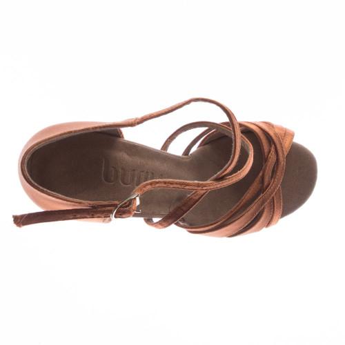 0797c829c4c Loraina - Nude Strappy Dance Shoe - 3 inch Flared Heels