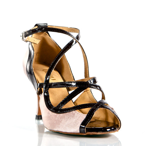 Arlette - Strappy Open Toe Dance Shoe - 3 inch Flared Heels