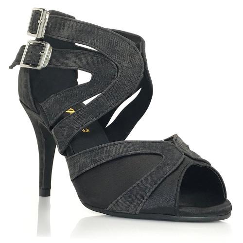 Isabel - Denim Open Toe Cross Strap Stiletto - 3.5 inch Heels