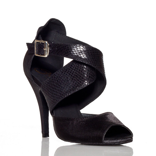 Jorjet - Open Toe Thick Crossing Ankle Strap Heels - Custom Made To Order - B1023