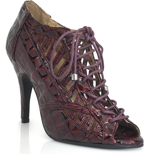Lacey - Lace Up Open Toe Heels - Custom Made To Order - B1339