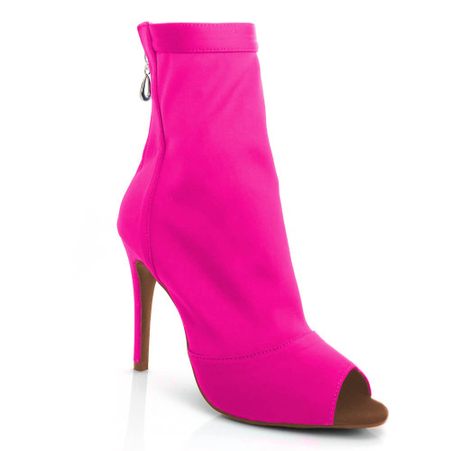 Shabina Limited Edition - Made To Order - Open Toe Stretch Lycra Sock Bootie