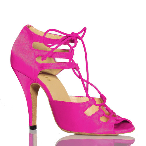 Alemana - Open Toe Lace Up Heels - Custom Made To Order - CBIT1227
