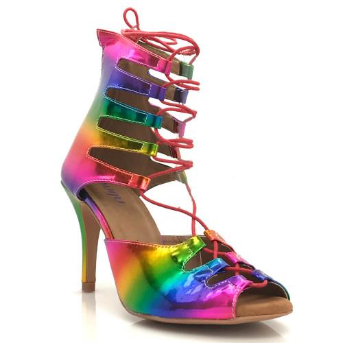 Amalia Pride - Made to order - Lace Up Open Toe Heel Dress Sandal
