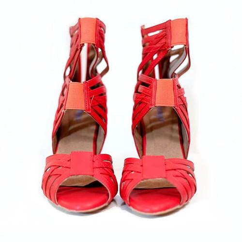 Emmalynn - Red Camo Strappy High Heel Sandal