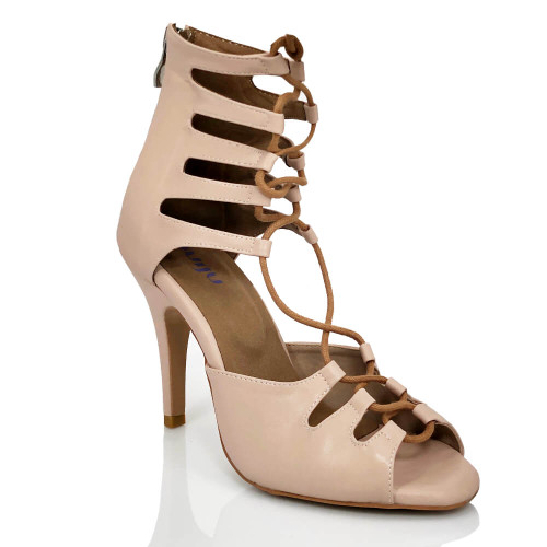 Amalia Nude - Made to order - Lace Up Open Toe Heel Dress Sandal - True Nude Shade Two