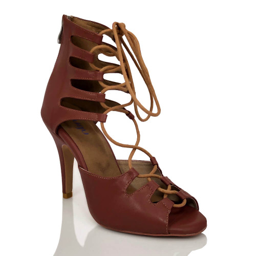 Amalia Nude - Made to order - Lace Up Open Toe Heel Dress Sandal - True Nude Shade Seven
