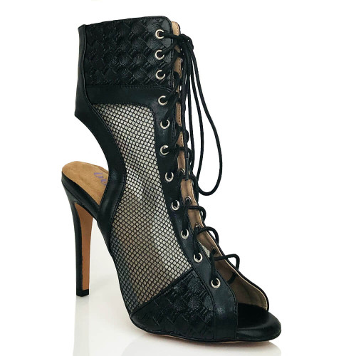 Annabel-lace-up-open-back-mesh-ankle-boot-black-1
