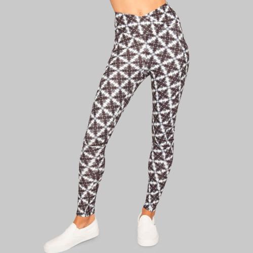 Kona high waist pocket pattern Legging back recycled material