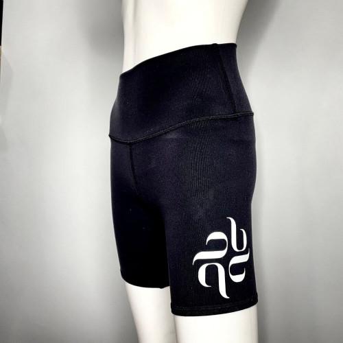 Burju Logo Biker Shorts - Black