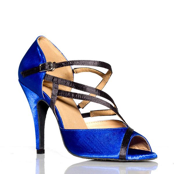 Alejate - Blue Satin Stiletto Dance Shoe, 4 inch Heels
