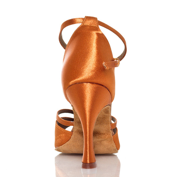 b957f73a73b Linked - Nude Cross strap Dance Shoe - 3.75 inch Flared Heels ...