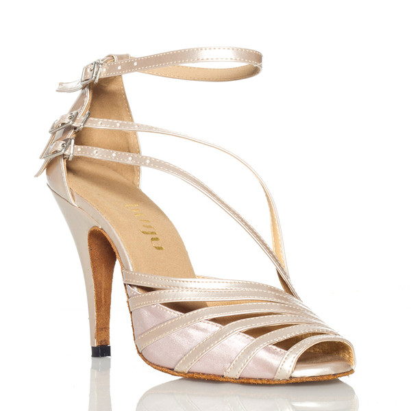 Impressions - Strappy Open Toe Stiletto Dance Shoe - 4 inch Heels