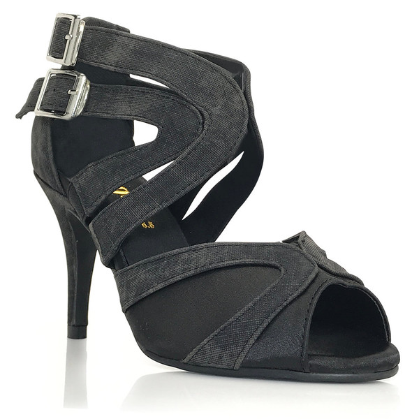 Isabel - Denim Open Toe Cross Strap Stiletto - 3.5 inch Heels