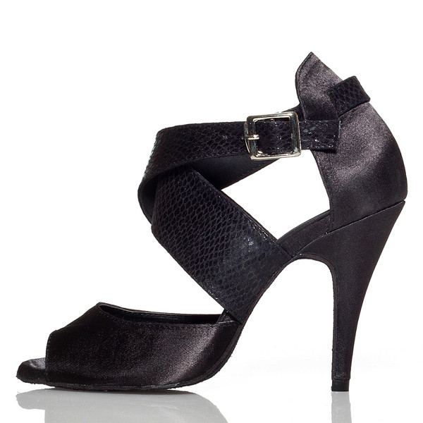 1095d2b3d14 Jorjet - Open Toe Thick Crossing Ankle Strap Heels - Custom Made To Order -  B1023