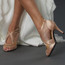 Brittanee - Nude Satin Crystal Stiletto Open Toe - 3.5 inch Heels