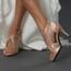 Brittanee - Nude Satin Crystal Stiletto Open Toe - 3.5 inch Heels