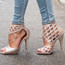 Caressa - Nude Open Toe Cage Stiletto - 4 inch Heels
