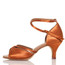 Linked - Nude Cross strap Dance Shoe - 2.5 inch Slim Heels