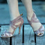 Isabel - Open Toe Cross Strap Heels - Custom Made To Order - B1441