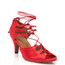 Alemana - Satin Open Toe Lace Up Dance Shoe - 2.5 inch Slim Heels