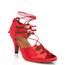 Alemana - Satin Open Toe Lace Up Dance Shoe - 2.5 inch Slim Heels