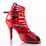 Relle - Open Toe Elastic Strappy Stiletto Dance Shoe - 3.5 inch Heels