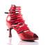 Relle - Open Toe Elastic Strappy Dance Shoe - 3 inch Flared Heels