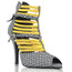 Relle - Open Toe Elastic Strappy Sandal - Custom Made To Order - B1440