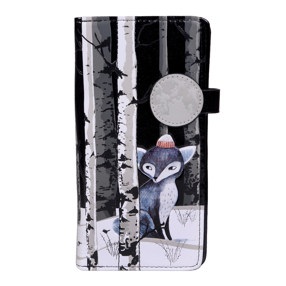 Sly Winter Fox - Large Zipper Wallet