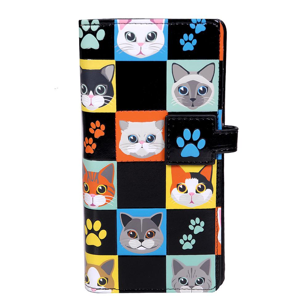 Cat Checkers - Large Zipper Wallet